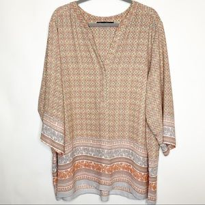 Rose & Olive Plus Women's Tunic Top Size 3X